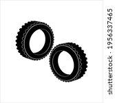 tyre icon  automobile rubber... | Shutterstock .eps vector #1956337465