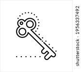 key icon  lock unlock key... | Shutterstock .eps vector #1956337492