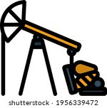 oil pump icon. editable bold... | Shutterstock .eps vector #1956339472