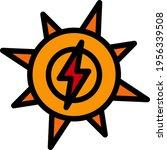 solar energy icon. editable... | Shutterstock .eps vector #1956339508