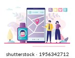 parents monitoring whereabouts...   Shutterstock .eps vector #1956342712