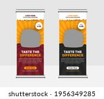 food and restaurant roll up...   Shutterstock .eps vector #1956349285