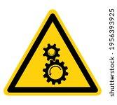 rotating gears symbol sign... | Shutterstock .eps vector #1956393925