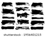 brush strokes bundle. vector... | Shutterstock .eps vector #1956401215