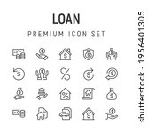 premium pack of loan line icons....