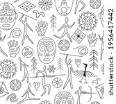 seamless pattern with... | Shutterstock .eps vector #1956417442
