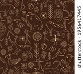 seamless pattern with... | Shutterstock .eps vector #1956417445