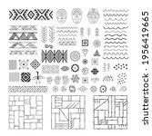 a set of decorative elements... | Shutterstock .eps vector #1956419665