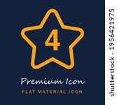 star with number 4 premium...