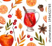 Seamless Pattern Autumn Harvest ...