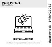 digital marketing thin line...   Shutterstock .eps vector #1956423052