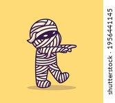 cute mummy walking cartoon... | Shutterstock .eps vector #1956441145