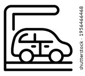 parked car icon. outline parked ... | Shutterstock .eps vector #1956466468