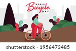 World Bicycle Day Background...