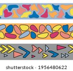a set of seamless borders with... | Shutterstock .eps vector #1956480622