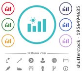 covid graph flat color icons in ... | Shutterstock .eps vector #1956494635