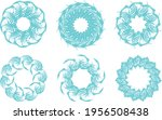 blue fish frames on a white... | Shutterstock .eps vector #1956508438