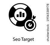 trendy icon of seo target ... | Shutterstock .eps vector #1956538978