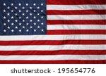 Closeup Of New American Flag