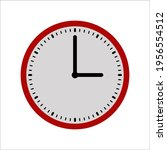 clock time icon on white... | Shutterstock .eps vector #1956554512