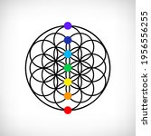 flower of life with seven...   Shutterstock .eps vector #1956556255