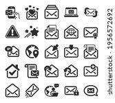mail message icons. newsletter  ... | Shutterstock .eps vector #1956572692