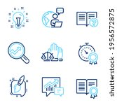 education icons set. included... | Shutterstock .eps vector #1956572875