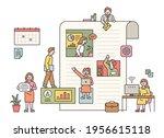 business people working inside... | Shutterstock .eps vector #1956615118