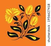 folk floral print . abstract... | Shutterstock .eps vector #1956627418