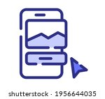 mobile design app single...