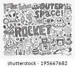 doodle space element | Shutterstock .eps vector #195667682