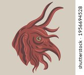 head of a medieval demon or...   Shutterstock .eps vector #1956694528
