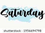 calligraphic text of days in...   Shutterstock .eps vector #1956694798