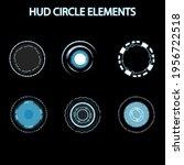 set of hud circle elements...