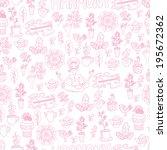seamless harmony pink pattern | Shutterstock .eps vector #195672362