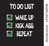 funny to do list text print.... | Shutterstock .eps vector #1956728548