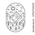 illustration of three mountains ... | Shutterstock .eps vector #1956733345