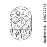 illustration of mountains and... | Shutterstock .eps vector #1956733348