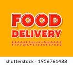 vector modern logo food... | Shutterstock .eps vector #1956761488