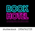 vector business logo book hotel.... | Shutterstock .eps vector #1956761725