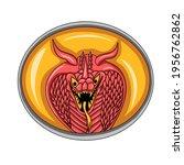 illustration of snake head... | Shutterstock .eps vector #1956762862