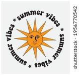 70s 80s retro slogan. summer... | Shutterstock .eps vector #1956770542
