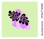 leaf wall art decoration and... | Shutterstock .eps vector #1956774085