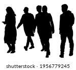 crowds people walking on street.... | Shutterstock .eps vector #1956779245
