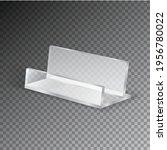acrylic table card holder... | Shutterstock .eps vector #1956780022