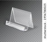acrylic table card holder... | Shutterstock .eps vector #1956780025