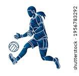 gaelic football female player... | Shutterstock .eps vector #1956783292