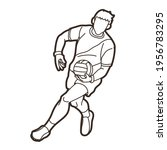 gaelic football male player... | Shutterstock .eps vector #1956783295