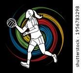gaelic football female player... | Shutterstock .eps vector #1956783298