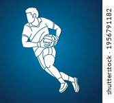 gaelic football male player... | Shutterstock .eps vector #1956791182